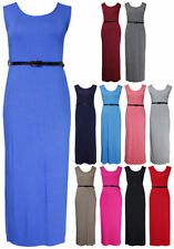 Plus Size Sleeveless Dresses for Women with Belt
