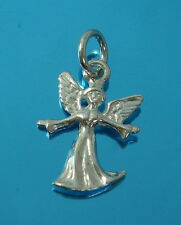 925 Sterling Silver Guardian Angel Pendant Charm for Chain Necklace Jewellery