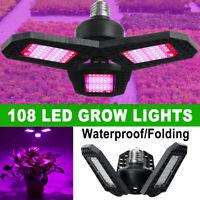 100W Led Grow Light Full Spectrum Lamp Panel Plant E27 LED Lights