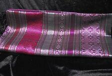 "Thai Silk Scarf Shawl Pashmina Colorful Thai Silk Scarf 27""x 67"" silver purple"