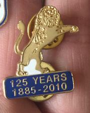 MILLWALL 125 YEARS 1885-2010 CUTOUT LION PIN BADGE
