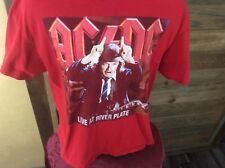 AC/DC LIVE at RIVER PLATE Men's Size XXL Red T-Shirt AC-DC BLACK ICE WORLD TOUR