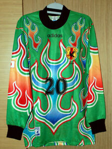 Retro Japan 97 Green Goalkeeper Football Shirt #20 KAWAGUCHI 川口能活 カワグチヨシカツ