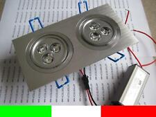 DOPPIA LAMPADA LED INCASSO 6X1w 6w = 50w LUCE FREDDA