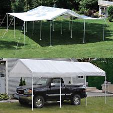 10x20x8 ShelterLogic 8 Leg Canopy With Extension Kit Carport Party Tent 23530