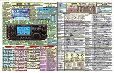 ICOM IC-746 AMATEUR HAM RADIO DATACHART GRAPHIC INFORMATION