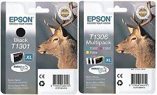Epson T1306 + T1301 4 encres pour B42WD SX525WD