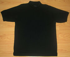 Men's Shirt Sz 2XL Big Classic Polo Golf Rugby Short Sleeved Black 52 In Tag 3XL