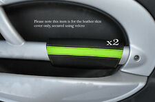 Black & green 2x PANTHERS PORTA BRACCIOLO IN Pelle Cover Adatta per BMW Mini Cooper 01-03
