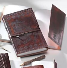 Leather Journal Note book Hand Made Elephant Embossed Fair Trade Gift New