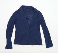 New Look Womens Size 8 Cotton Blend Blue Blazer Jacket