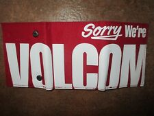 NEW* VOLCOM WALLET ID TRIFOLD $30 Retail SLIM Sorry We're Red Coin Pouch