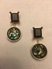 "1.5"" LONG Black Onyx Colorful Gemstone Stud Earrings-E8859"