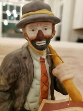 Vintage Emmett Kelly Jr. Clowns Flambro Hobo Figurine Circus 1984 9 inches