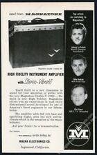 1957 Magnatone amp Double V 280 3 musicians photo vintage print ad