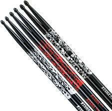 Tama 5a 3-pack (5a-fb-s 5a-fb-r 5a-s-bs) red/Silver fires Skull Drumsticks