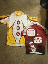Mens Cycling Riding jersey Lance Armstrong Set Of 2 Small Medium