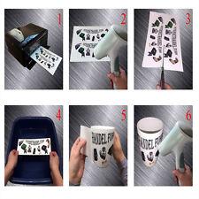 LASER Wasserabschiebefolie Decalfolie Tassen Glas Modellbaufolie 1x A5 weiß Top
