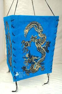 Nepalese Lokta PaperDragon Printed Eco-friendly Lamp Shade