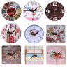 Vintage Wooden Large Wall Clock Shabby Chic Rustic Kitchen  Home Antique Style