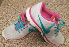 Women's NIKE FLEX EXPERIENCE RN Athletic Running Shoes Grey Teal Pink SIZE 8.5