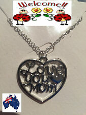 BN 2017 SP LOVE YOU MOM IN A HEART NECKLACE (MOTHERS DAY,MUM) STUNNING!! 186W