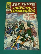 MARVEL COMICS GROUP SGT. FURY AND HIS HOWLING COMMANDOS #15 2/1965- SWEET COPY!!