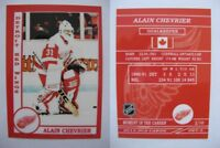 2015 SCA Alain Chevrier Detroit Red Wings goalie never issued produced #d/10