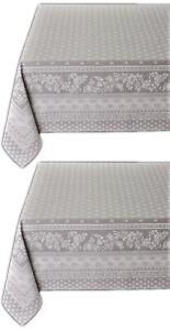 Jacquard Tischdecke Teflon beschichtet Unterdecke Decke Fleckenschutz Dunkelgrau