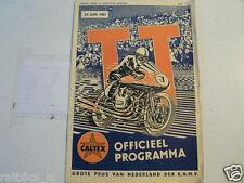 1961 DUTCH TT ASSEN PROGRAMME GRAND PRIX MOTO GP,RENNPROGRAMM,C