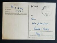 1941 Germany Halle Saale Field Post WWII Postcard Cover