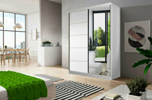 Modern Wardrobes NEO 05 120cm two mirrored sliding doors FREE DELIVERY