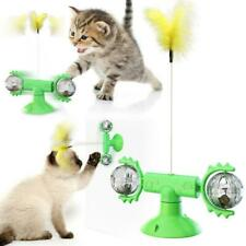 Funny Tickle Cat Toy Whirling Windmill Catnip with Feather Interactive Puzzle