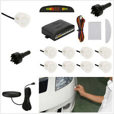 8 White Plastic Parking Sensor Car Radar Reverse Backup Buzzer Alert System Kits