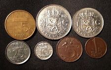 Netherlands Coin Lot - Full Set of Pre-Euro Dutch Coins - Free Shipping!