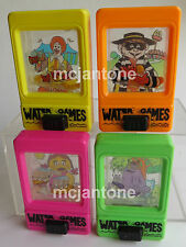 LOOSE SET 4 McDonald's 1992 WATER GAMES Birdie Waterful Ronald CMPLETE Skill Toy
