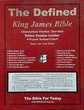 The Defined King James Bible Genuine Leather Black or Burgundy FREE Shipping