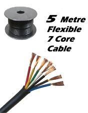12v - 24v - 5m 7 Core Trailer Caravan LED Lights 11amp Wire Cable 5 Metre Roll