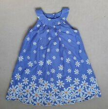 Mothercare blue sleeveless summer dress age 4-5 years floral print
