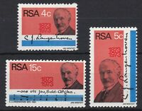 RSA1053) RSA 1973 the 100th Anniversary of the birth of CJ Langenhoven set of 3