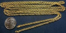 3 ft 3x2mm Yellow gold plated cable Link chain fine strong 12 links inch pch002