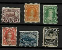CANADA New Brunswick LOT MINT HR and USED Sc 6 to 11  FVF