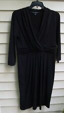 Chadwicks Shape Benefits Dress Black Size 8 super stretch
