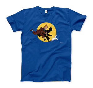 Tintin and Snowy (Milou) Getting Hit By A Spotlight T-Shirt