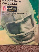 1970 Oklahoma Sooners Colorado Buffaloes Football Program OU  Norman Vintage