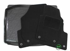 SKODA FABIA mk2 HATCHBACK 2007-14 Tailored black floor car mats + boot tray mat