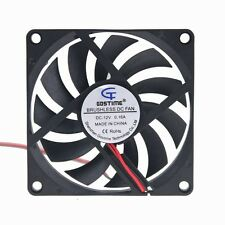 12V 8cm 80mm 80x80x10mm Brushless PC CPU Computer Cooling Case Fan 2Pin 2510