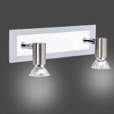 Briloner 2141-022 Lampada splash HVH da parete 2 x 50W GU10 nichel opaco IP23