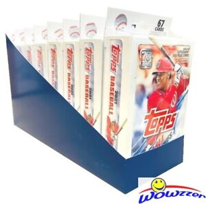 (8) 2021 Topps Series 1 Baseball EXCLUSIVE Factory Sealed Hanger Box-536 Cards