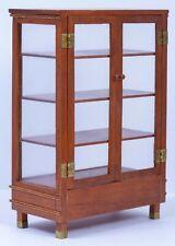 Dollhouse Miniatures ~ 1978 Signed MG ~ Wooden & Plexiglass Cabinet w/ Shelves